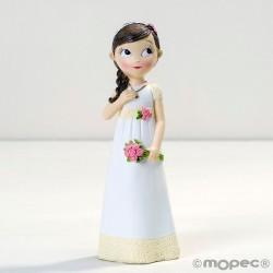 Figura niña Comunión vestido romántico