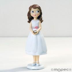Figura niña Comunión con vestido corto