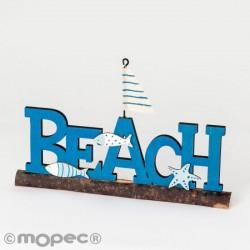 Letrero madera Beach 9 caramelos