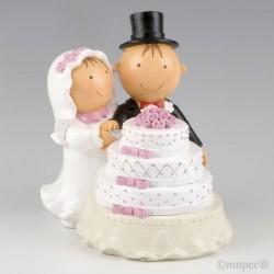 Figura para tarta Pit & Pita Pastel