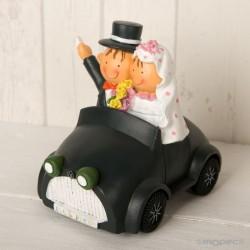 Figura pastel-hucha novios Pit-Pita coche