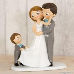 Figura pastel Pop & Fun novios con niño
