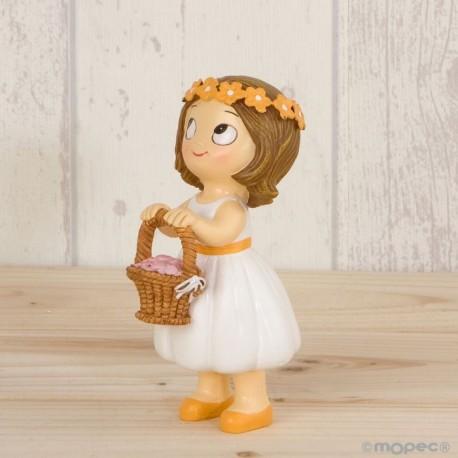 Figura pastel Pop & Fun niña cesta pétalos