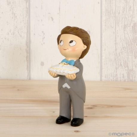 Figura pastel Pop & Fun boda niño cojín anillos