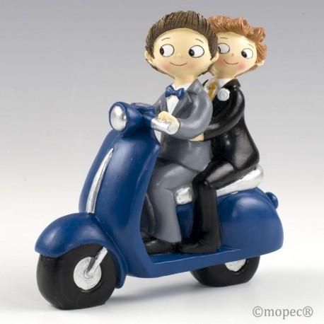 Figura pastel Boys Pop & Fun en moto