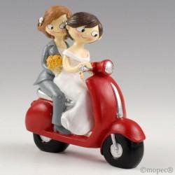 Figura pastel Girls Pop & Fun en moto