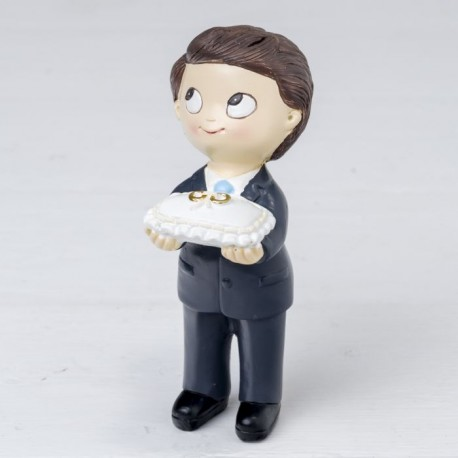 Figura pastel Pop & Fun niño corbata y cojín anillos