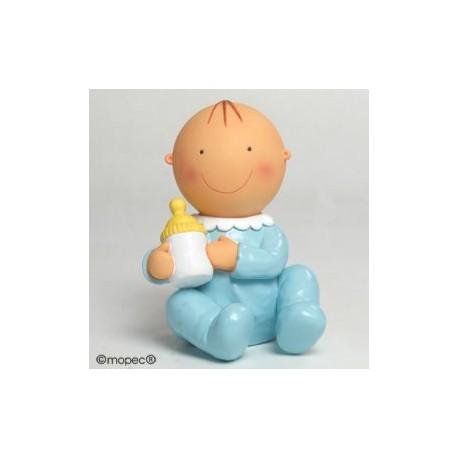 Figura pastel-hucha Pit sentado biberón