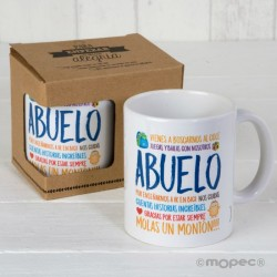 Taza cerámica Abuela / Abuelo en caja regalo