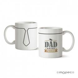 Taza cerámica Mi papá es mi mejor amigo en caja regalo