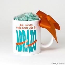 Taza cerámica Abu no hay nada mejor que tu Abrazo en caja regalo