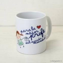 Taza cerámica para el día del profesor en caja regalo