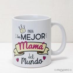 Taza cerámica para el/la Mejor Papá/Mamá del mundo en caja regalo