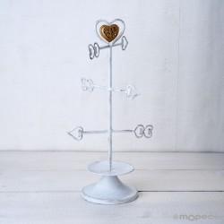 Joyero de metal flechas y corazón con caja