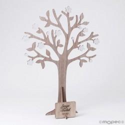 Árbol de los deseos y joyero con placa