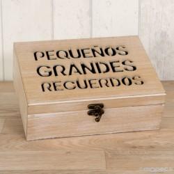Cofre madera mensaje para recordar