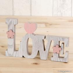 Decoración madera Love