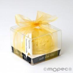 Vela aromática con cinta fragancia limón