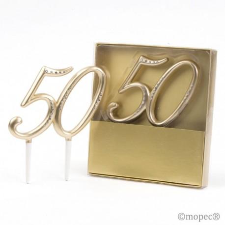 Decoración pastel 50º Aniversario