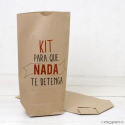 Bolsa Kraft para regalo, Kit Para que nada te detenga