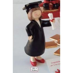 Figura pastel graduación chica