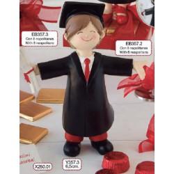Figura pastel graduación chico